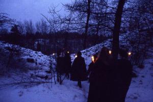 Fackeltåg från Gåseborg 1984